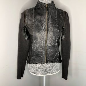 Improvd Lamb Distressed Leather Jacket
